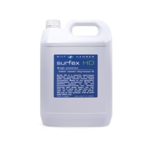 surfex hd high powered water based degreaser 5L