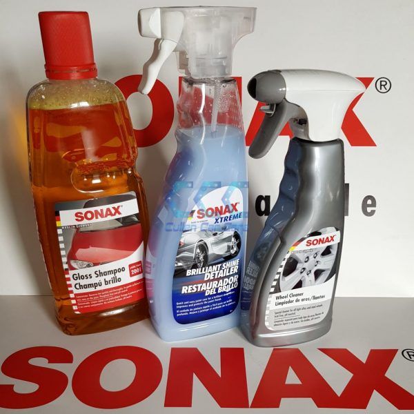 SONAX Gloss Shampoo + SONAX Brilliant Shine Detailer + SONAX Wheel Cleaner Special Offer at Cullen Car Care Products Ireland
