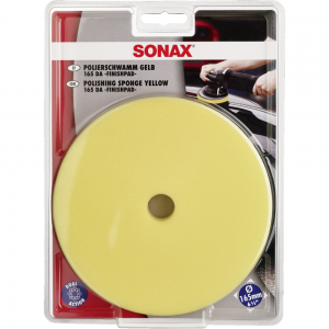 SONAX Polishing Sponge 165mm (Yellow) at Cullen Car Care Shop - Car Detailing Products in Ireland